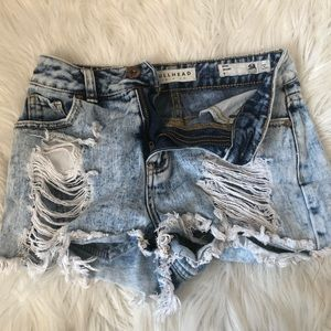 Bullhead Cropped Mom Jean Shorts